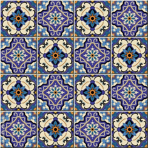 Printed kitchen splashbacks Moroccan Tiles Gorgeous seamless pattern from colorful floral Moroccan, Portuguese tiles, Azulejo, ornaments. Can be used for wallpaper, pattern fills, web page background,surface textures.