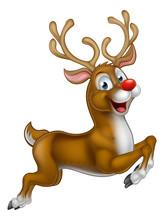 Cartoon Santas Christmas Reindeer