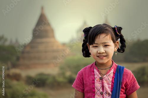 Fotografie, Obraz  Smile of bagan myanmar
