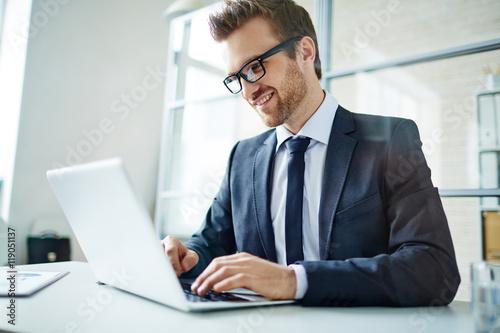 Garden Poster Businessman at work