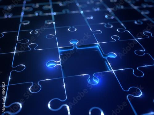 Photo  Puzzle Technologie Lösung