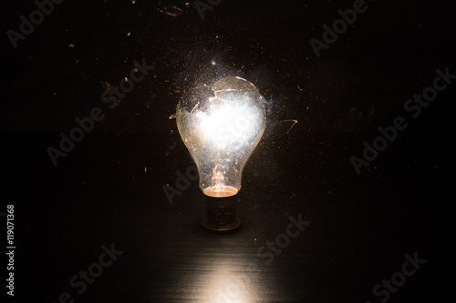 Photo  Breaking Bulb
