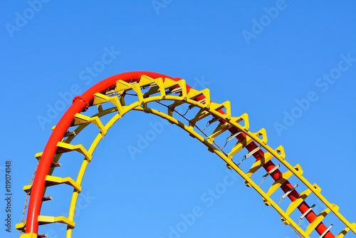Zdjęcie XXL Spiralna szyna kolejki górskiej