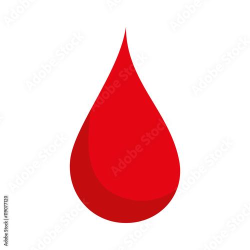 blood drop red health liquid human medicine vector illustration Poster