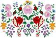 Hungarian embroidery folk pattern from Kalocsa region