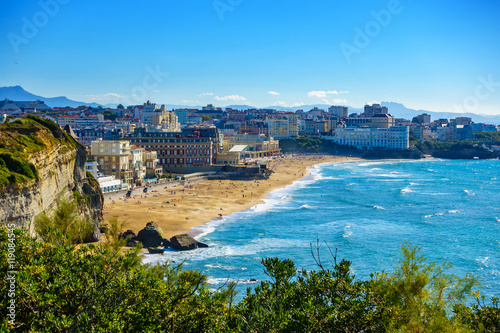 Biarritz Grande Plage in France Canvas Print