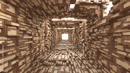 tunel-drewna