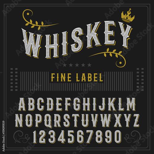 Fotografía  Whiskey label font and sample label design