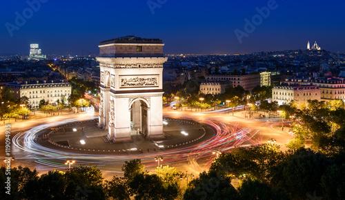 Valokuva  Arc de Triomphe & Sacré-Coeur