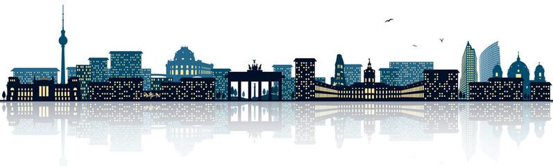 Panel Szklany Podświetlane Berlin Berlin Skyline