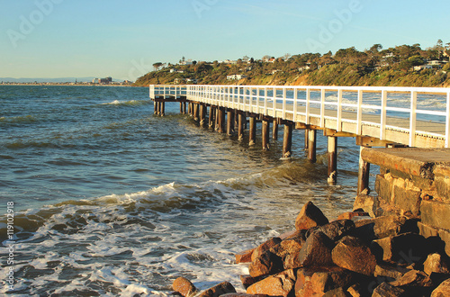 Fotografie, Obraz  Pier at Daveys Bay, Mornington Peninsula, Mount Eliza, Victoria, Australia