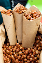 Walnuts In A Brown Kraft Paper...