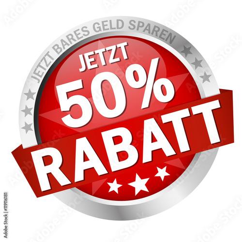 Poster  Button Jetzt 50% Rabatt