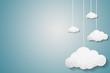 Leinwandbild Motiv Paper clouds background