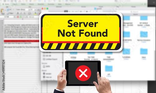 Valokuva  computer Server Not Found Error Inaccessible