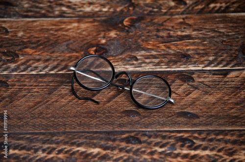 Fotografía  Vintage round reading glasses
