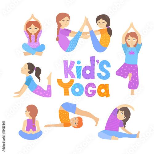 Gymnastics for children  Children yoga  Kids doing yoga in