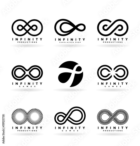 Fotografia Set of various infinity symbols and logo design elements (4)
