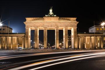 Panel Szklany Podświetlane Berlin Brandenburger Tor in der Nacht