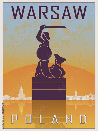 warszawski-plakat-w-stylu-vintage