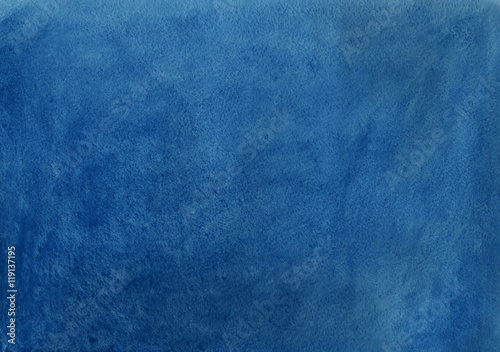 Abstract Dark Blue Watercolor Background