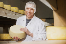 Cheese Production At Factory