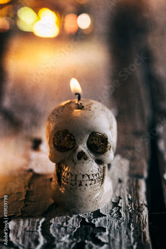 stock photo: skull candle