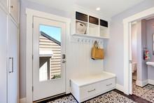 White Hallway Interior.  Stora...