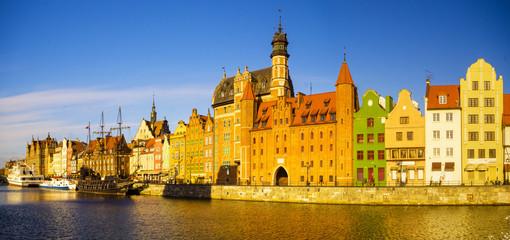 Panel Szklany Podświetlane Gdańsk Gdansk,Poland,may 2015:Cityscape of Gdansk in Poland
