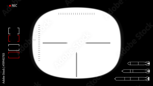 vector template for footage or photo the viewfinder submarine