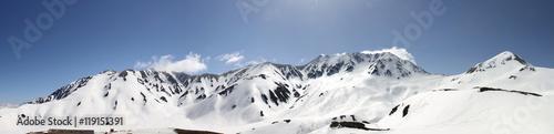 Fotobehang Antarctica 立山連峰 5月パノラマ