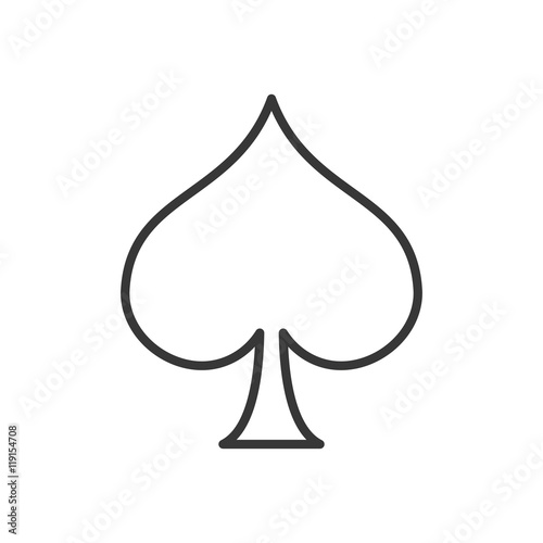 Fényképezés flat design spade card icon vector illustration