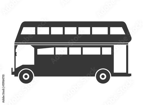 Fotografie, Tablou  flat design double decker bus icon vector illustration