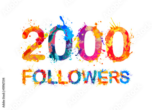 Poster 2000 (two thousand) followers