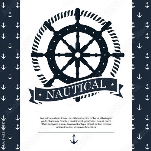 timon ship antique icon vector illustration graphic Wallpaper Mural