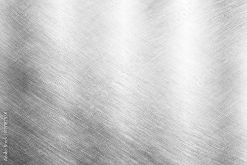 Tuinposter Metal Sheet metal silver solid black background