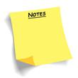 canvas print picture - quadratischer unbeschrifteter postit Notizzettel Klebezettel leer als Freisteller mit Schatten