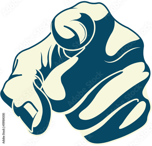 Poster Magie Pointing forefinger