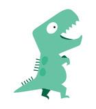 Fototapeta Dinusie - cute dinosaur vector flat design