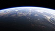 Amazing View Of Planet Earth From Space. Realistic 3d Animation. Ultra High Definition. 4K. 3840x2160. Seamless Looped.