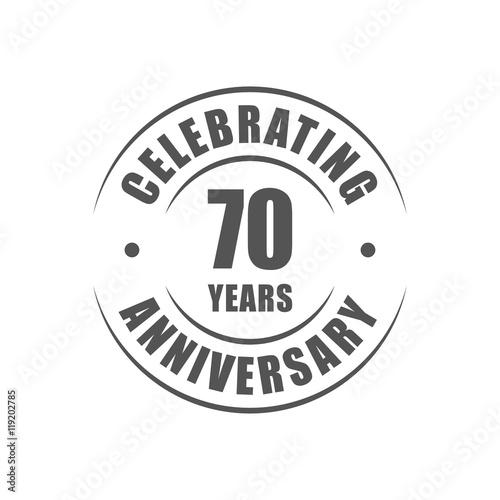 Photographie  70 years celebrating anniversary logo