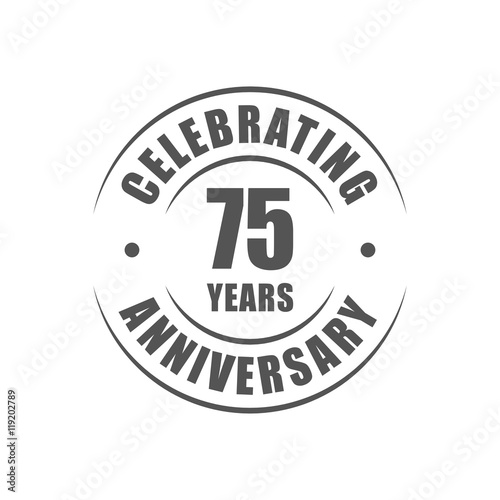 75 years celebrating anniversary logo Poster