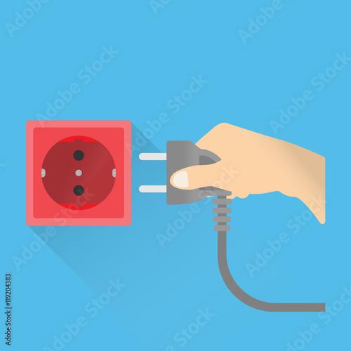Fotografía  plug or unplug electricity