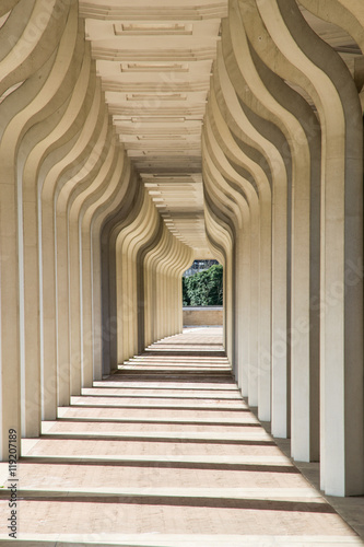 Obraz na płótnie Arkada korytarza