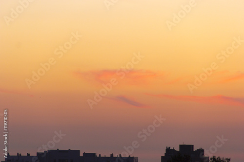 Foto op Canvas Candy roze atmosphere, sunlight, scenic nature, orange, high air, seasonal sunshine, summer cloudscape, sunny, cloudy, weather clouds