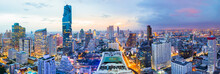 Panorama Bangkok City At Sunse...