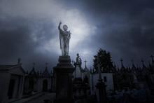 Overcast Sad Cemetery