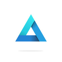 Triangle Logo With Strict Stro...