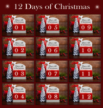 Twelve Days Til Christmas Collage.