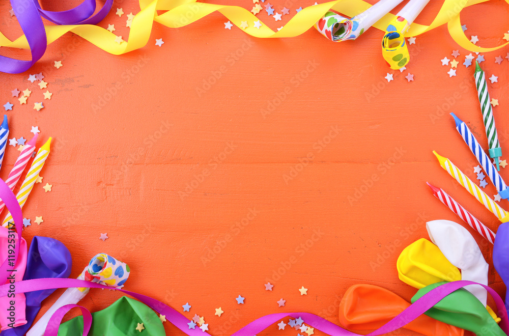 Happy Birthday Party Decorations Background Foto Poster Wandbilder Bei EuroPosters
